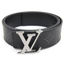 Louis Vuitton Belt Size Chart Men Louis Vuitton Belt Monogram Eclipse Sun Tulle Lv Initial M9043v 85cm Used Reversible Monotone Logo Men Belt Black Louis Vuitton
