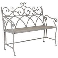 glflobench charles bentley florence wrought iron bench with