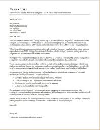 Cover Letter For Academic Position Admissions Counselor Cover Letter Sample Monster Com