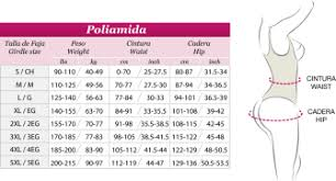 Size Charts Jb Sexy Body Fajas Colombianas San