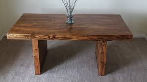 James James 6 Modern Farmhouse table in Early American stain