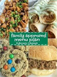 Family Meal Plans Family Approved Menu Plan Week 1 Together As Family