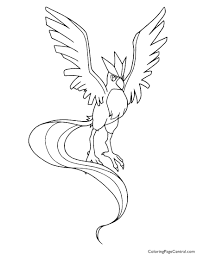 Small Picture Pokemon Articuno Coloring Page 01 Coloring Page Central
