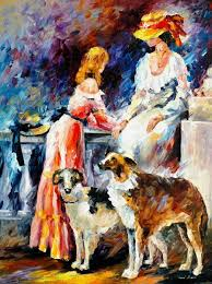 best friends palette knife oil painting on canvas by leonid afremov size 30