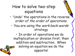 how to solve two step equations