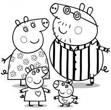 Disegno Della Famiglia Di Peppa Pig Cose Per Crescere