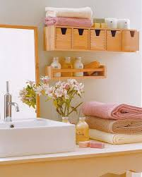 small shelves won t hurt your bathroom s style but will make it clutter free