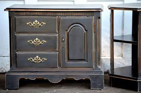 black painted furniture ideas. Black Chalk Painted Bedroom Furniture Side Tables Shabby Cottage Chic Style Distressed On Edges To Show Ideas F