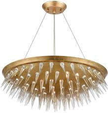 dimond 1140 069 sting gold leaf pendant lamp loading zoom
