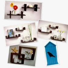 details about wall shelves floating many shapes colors sizes easy mounting