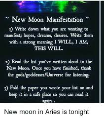 New Moon Manifestation N Write Down What You Are Wanting To Manifest