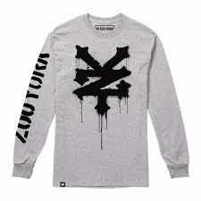 Zoo York Clothing Size Chart Details About Zoo York Stencil Mens Long Sleeve T Shirt Grey Sizes S Xxl