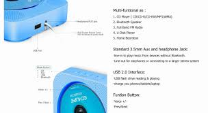 cd player wall mountable portable home audio boombox prenatal education early education english use bluetooth speaker