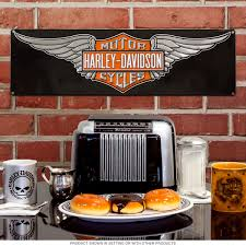 Harley Davidson Signs Decor HarleyDavidson Wings Logo Tin Sign Motorcycle Decor 23