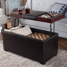 large ottoman furniture oversized tufted leather storage coffee table soft footstool with and tray small brown red ottomans over living room o low genuine