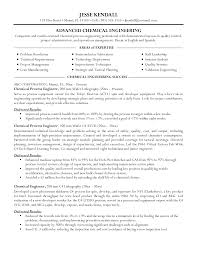 chemical engineering resume