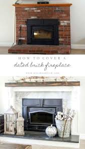fire brick for fireplace learn how to cover your brick fireplace to transform it from dated