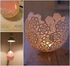 VIEW IN GALLERY gorgeous doiley candle holder Decorative Doily Candle  Holders Handmade in Minutes