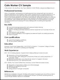 Curriculum Vitae Samples Cafe Worker Cv Sample Myperfectcv