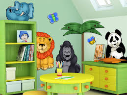 3d nursery wall murals jungle safari zoo animals retail whole and