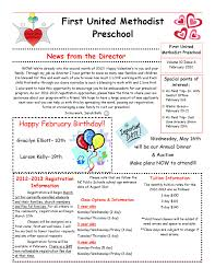 october newsletter ideas february newsletter fumc preschool free html email templates student