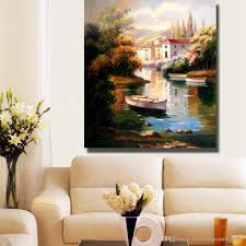 artist painted beautiful modern landscape oil painting on canvas abstract modern canvas wall art living room  on beautiful wall art for living room with 2018 artist painted beautiful modern landscape oil painting on