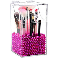 makeup brush organizer. clear cosmetic brush organizer,acrylic holder with lid,dust-proof makeup organizer