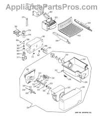 wiring diagram ge profile artica ge wr60x10258 ice auger motor appliancepartspros com part diagram