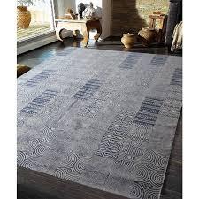 designer stonewashed cotton rug samoa navy 200x300