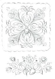 Coloring Pages Stencils Rosemaling Online For Adults Free Viking