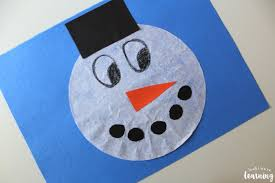 This coffee filter craft is suitable for both kids and adults. Coffee Filter Crafts For Kids Coffee Filter Snowman Craft Look We Re Learning