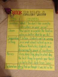 best expository writing prompts ideas expository writing hooks anchor chart