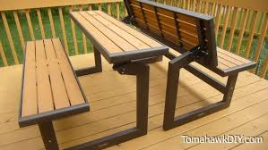 Diy Picnic Table Bench Plans Tags 28 Rare Picnic Table Bench