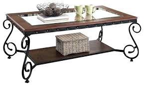oval metal coffee table cherry beading design metal frame glass top wood shelf coffee regarding popular oval metal coffee table