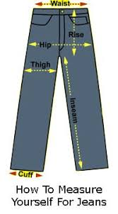 Womens Jeans Size Chart Length How To Measure Yourself For Jeans In 2019 Jeans Size
