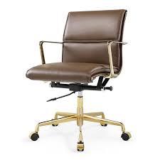 mid aluminum office chair white italian. M347 Office Chair In Italian Leather Mid Aluminum White E