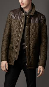 Men's Jackets | Leather Bikers, Bomber & Quilted | Burberry ... & Burberry - LEATHER PANEL QUILTED JACKET Adamdwight.com