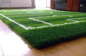image of football field carpet rug
