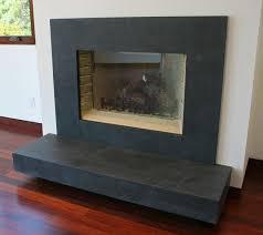 honed granite fireplace surround