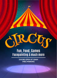talent show flyer template free circus show poster template with sign and light frame festive