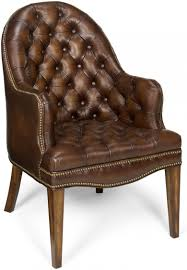 blarney brown leather executive side chair set of 2gallery image