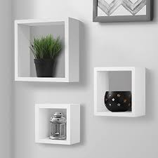 halter square floating shelves set of three large medium small decorate your room wall fully assembled s and hardware included wood