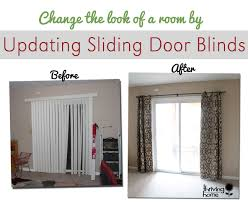 Patio Door Curtain Super Easy Home Update Replace Those Sliding Blinds With A