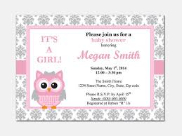 Invite Templates For Word Custom Free Owl Baby Shower Invitations Ba Shower Invitation Templates Word