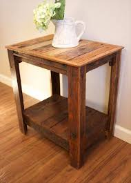 pallet wood side tables pallet furniture diy more bedroomeasy eye upcycled pallet furniture ideas