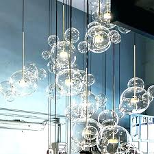 bubble light chandelier clear bubble lights light fixture branching awesome x tall waterfall glass chandelier bubbles