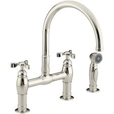 Perrin And Rowe Kitchen Faucet Rohl Perrin And Rowe 2 Handle Bridge Kitchen Faucet In Polished