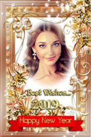 new year 2019 photo frames greetings cards 2019