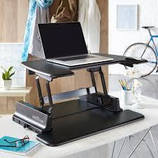 adjustable standing desk office. Black Adjustable Standing Desk Fit On The Top Of Office