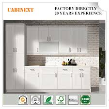 China Modern Solid Wood Kitchen Cabinet For Industrial House In